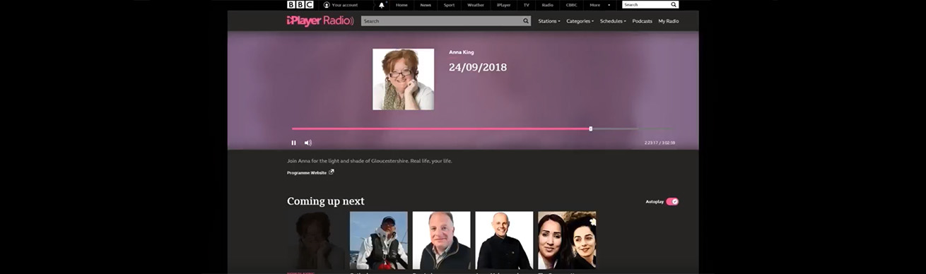 BBC Radio interview on the BBC series Bodyguard