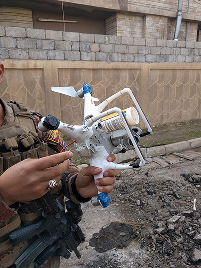 ISIS drones in Mosul Iraq - Lt Col Utterback