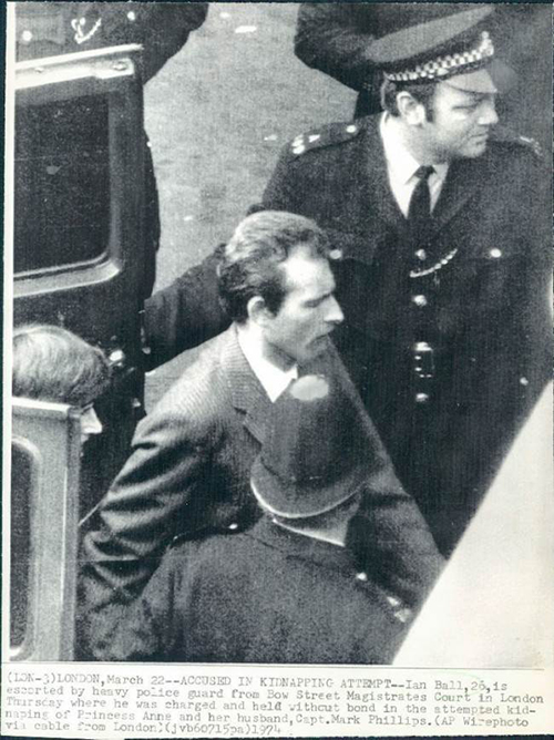Ian Ball who in 1974 attempted to kidnap Princess Anne