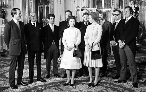 Princess Anne's rescuers meeting the Queen after kidnap attempt